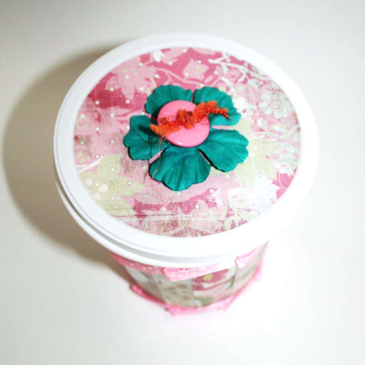 Upcycled Yogurt Container