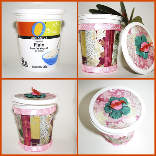 Upcycle a Yogurt Container into a Surprise Mini Album