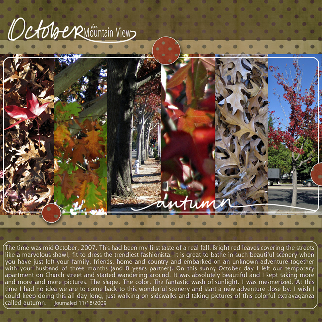 Autumn in Mountain view Digital Layout