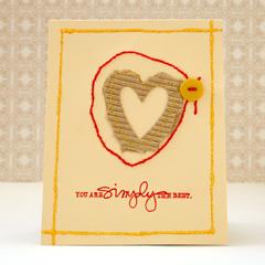 Handmade sewn cards