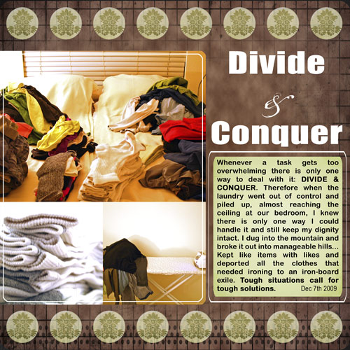 How Do You Tackle Everyday Chores? Divide and conquer
