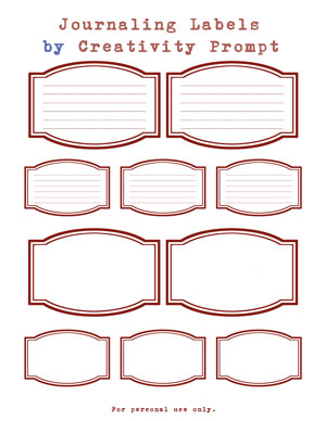 Free Rounded Journaling Labels