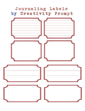 Free Retro Journaling Labels