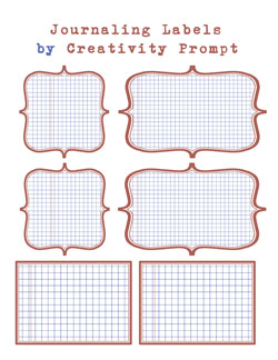 Printable Journaling Labels