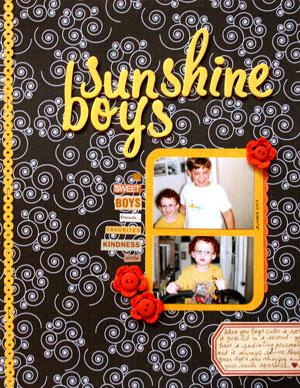 Sunshine Boys Layout