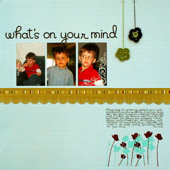 What is on your mind layout