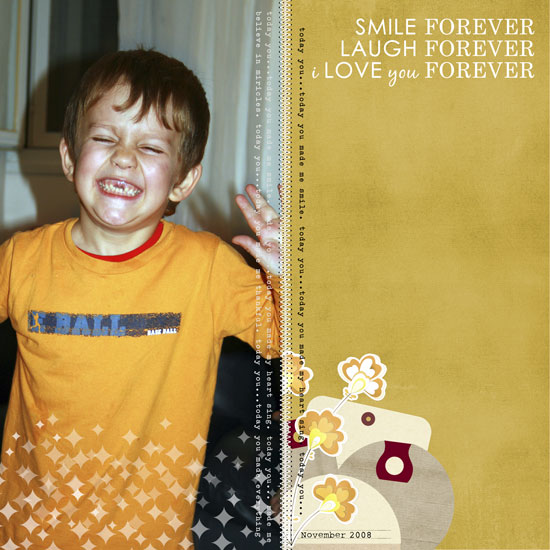 Smile Forever Layout