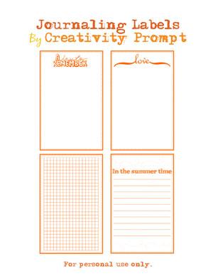 Free Journaling Labels