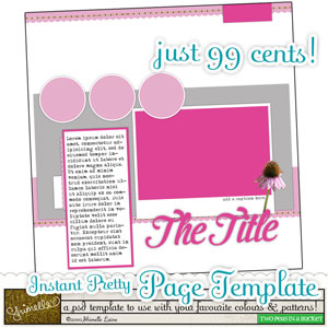 Instant Pretty Page template