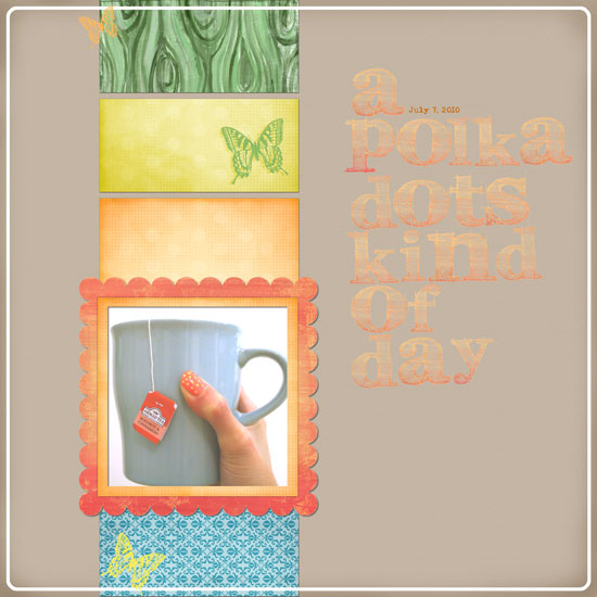 a polka dots kind of day layout