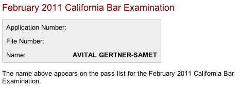 Passed the bar