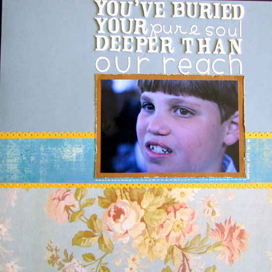 You Buried Your Soul Deeper Than Our Reach Layout