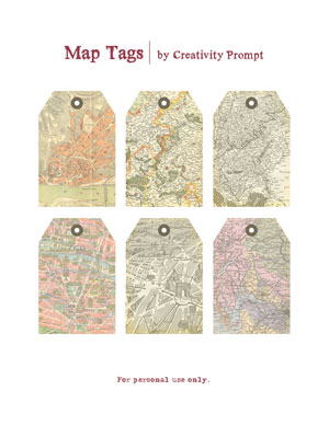 Free printable map tags