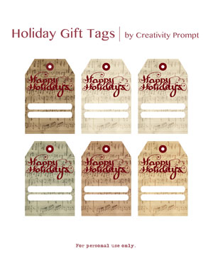 Free printable gift tags