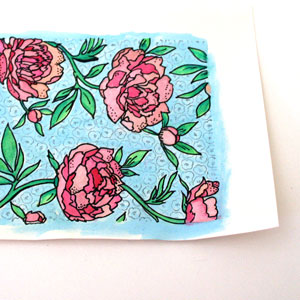 Watercolor Stamped Backgrounds