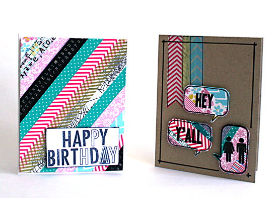 Washi tape cards