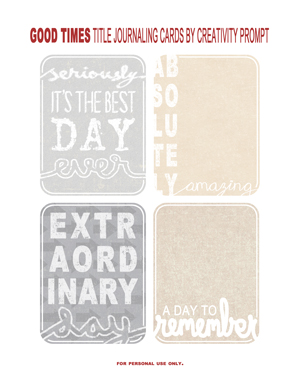 PREVIEW - Title journaling cards by Creativity Prompt