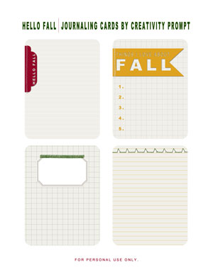 PREVIEW - Fall Journaling Labels