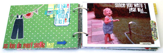 Mini Album Spread by Creativity Prompt