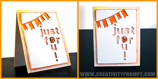 Just For You Card by Creativity Prompt