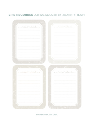 PREVIEW - Journaling Cards by Creativity Prompt