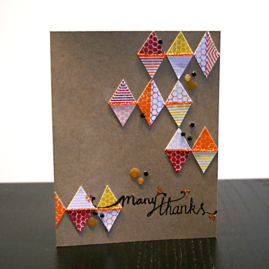 Many Thanks Card | Featuring Everyday Hexagons stamp set by Creativity Prompt