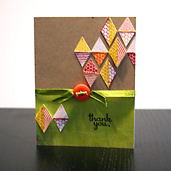 Thank you card | Featuring Everyday Hexagons stamp set by Creativity Prompt
