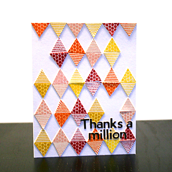 Thanks A Million Card | Featuring Everyday Hexagons stamp set by Creativity Prompt