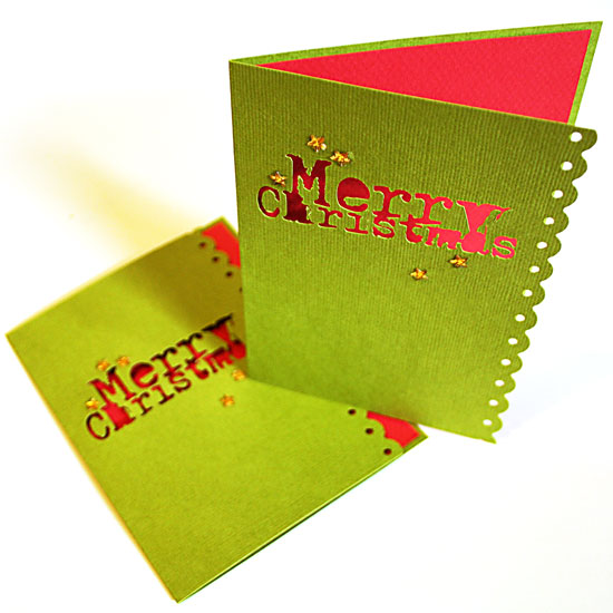 Die Cut Christmas Card by Creativity Prompt